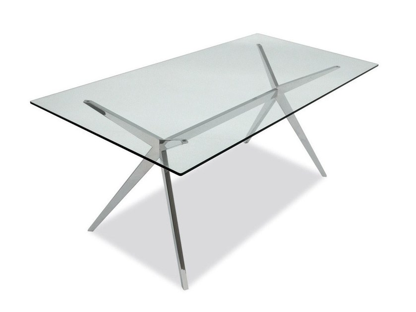 Rectangular glass table SEVEN - Calligaris