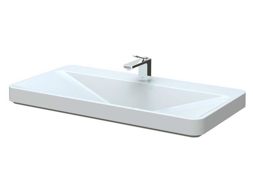 Inset ceramic washbasin SG | Rectangular washbasin - TOTO
