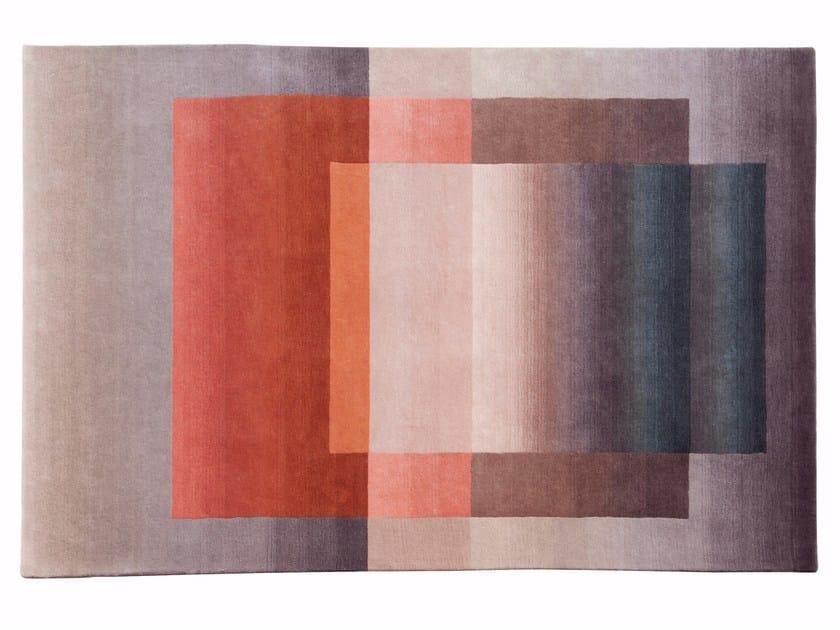 Rectangular wool rug SHADING 2 by ROCHE BOBOIS