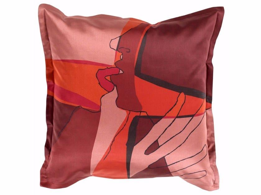 Square cotton cushion SHADOW KISS | Cotton cushion - sans tabù