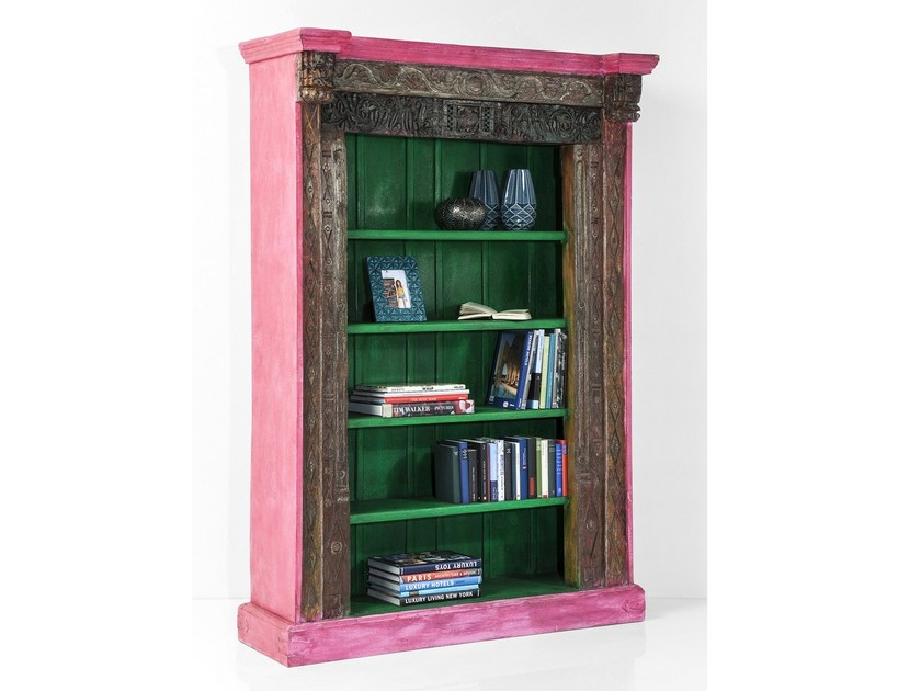 Open wooden bookcase SHANTI LODGE FUCSIA - KARE-DESIGN