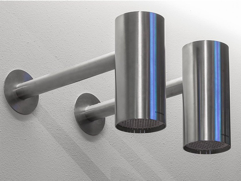 Wall-mounted stainless steel overhead shower SHAWÀ 1 - Antonio Lupi Design®