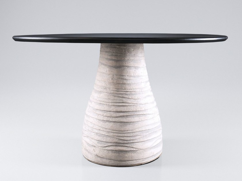 Round wooden table SHCHEDRYY by FAINA Collection