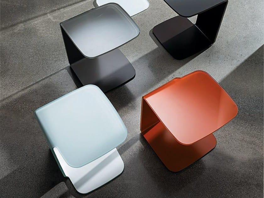 Rectangular crystal coffee table SHELL - SOVET ITALIA