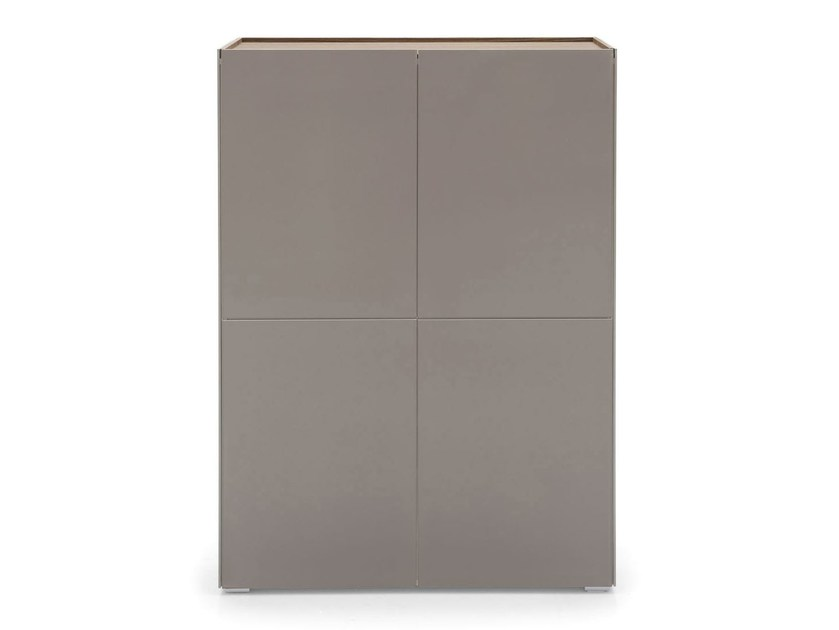Glass highboard with doors SHELTER | Highboard - Calligaris