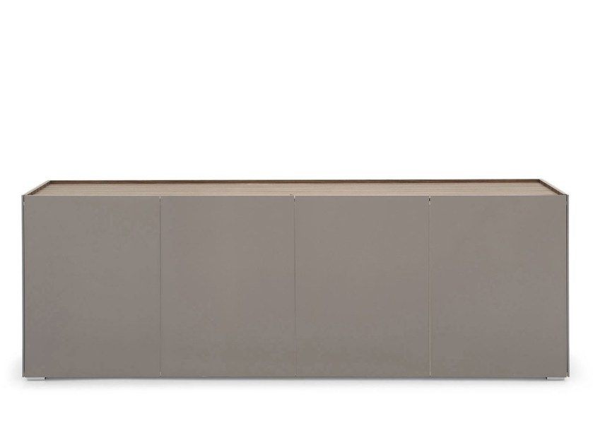 Glass sideboard with doors SHELTER | Glass sideboard - Calligaris