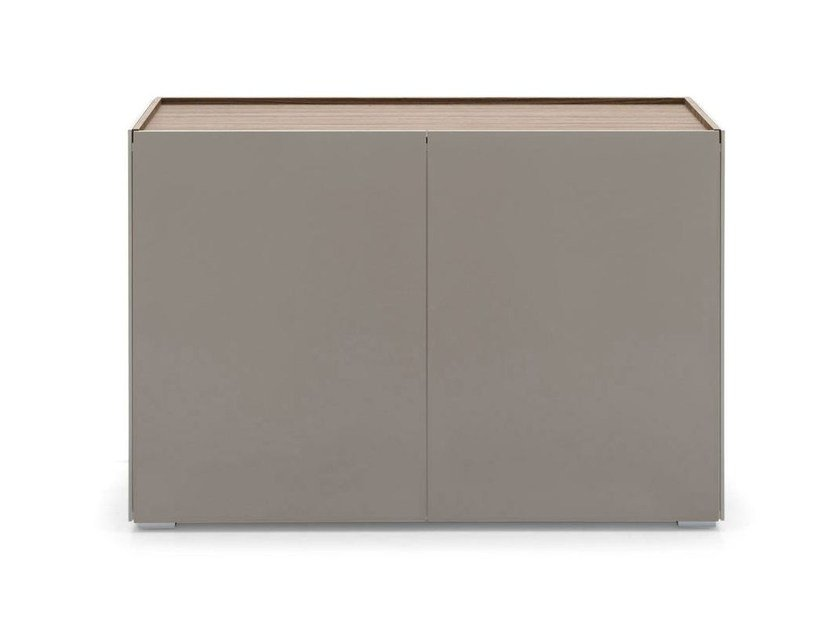 Glass sideboard with doors SHELTER | Sideboard - Calligaris