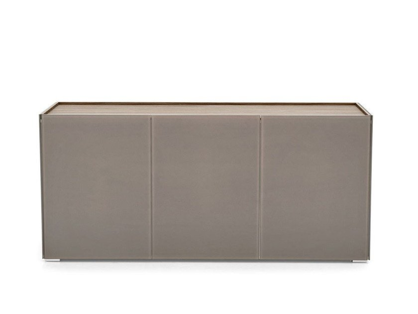 Glass sideboard with doors SHELTER | Sideboard with doors - Calligaris