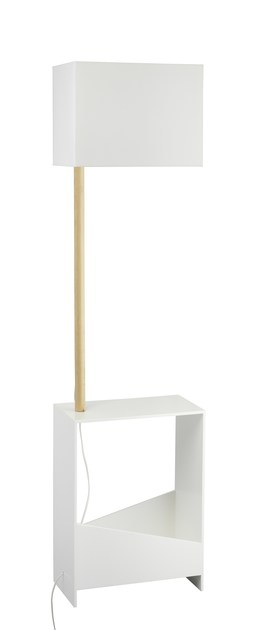 Contemporary style ash floor lamp SHELVY FL WF by ENVY