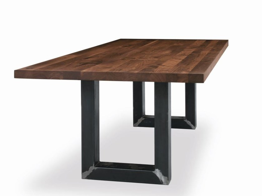 Rectangular wooden and iron table SHERWOOD | Table by Riva 1920