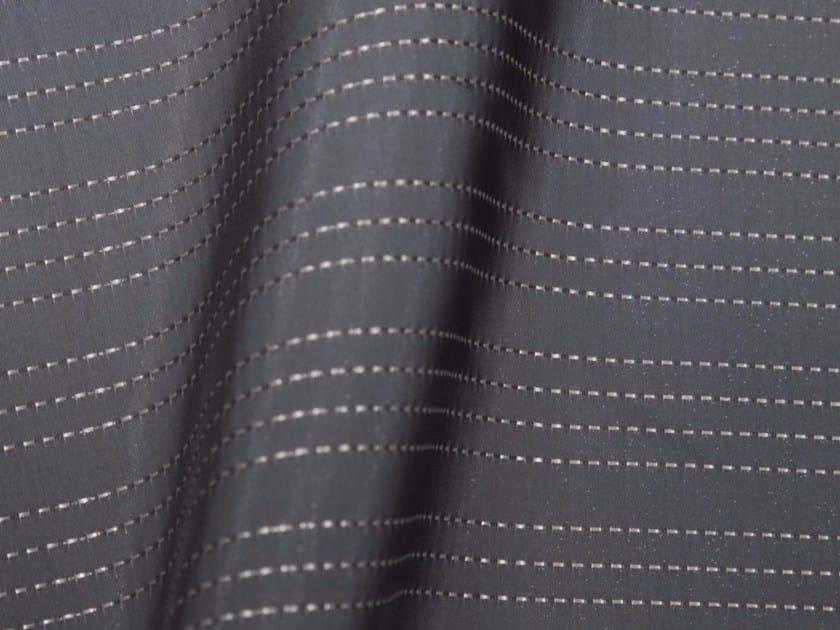 Striped synthetic fibre fabric for curtains SHIBUYA - Gancedo
