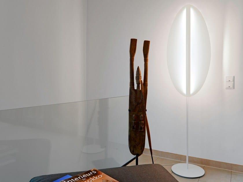 Lampada da terra a LED in vetro acrilico SHIELD | Lampada da terra - millelumen