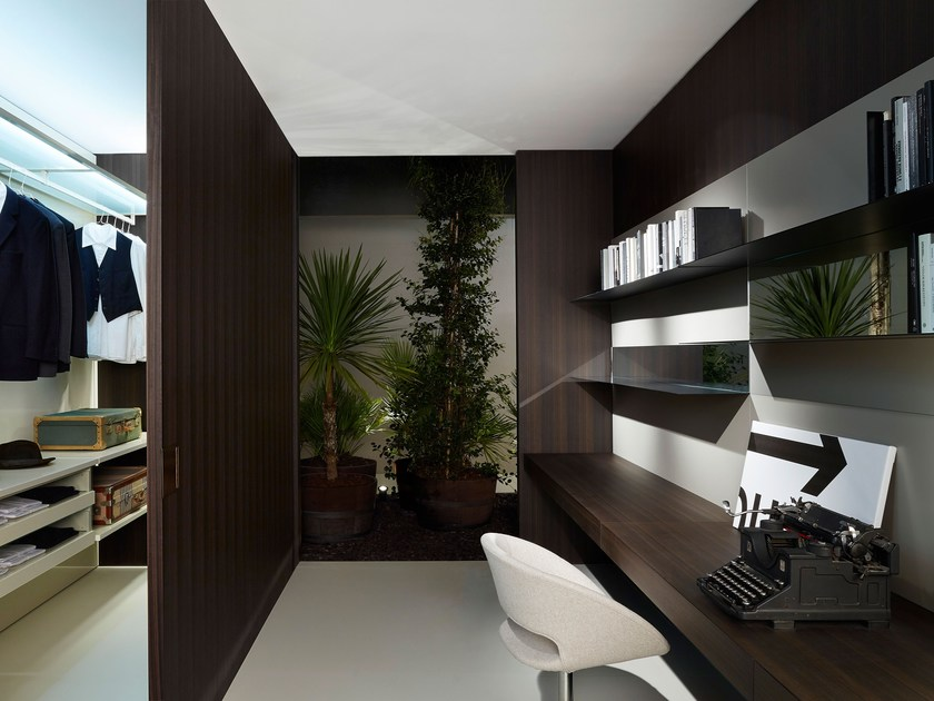 Wooden partition wall SHIFT by Porro