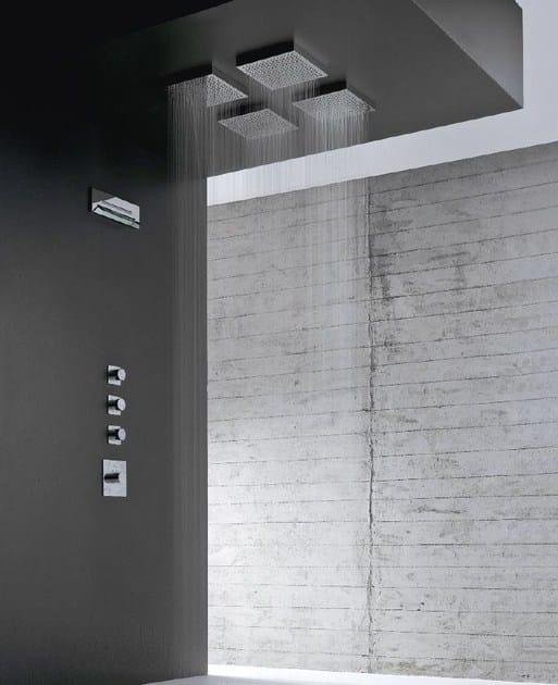 Soffione a pioggia a soffitto con illuminazione shir - Soffione doccia a soffitto ...