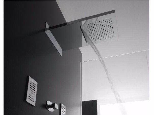 Wall-mounted 2-spray rain shower SHIRÒ | Wall-mounted overhead shower - ZAZZERI