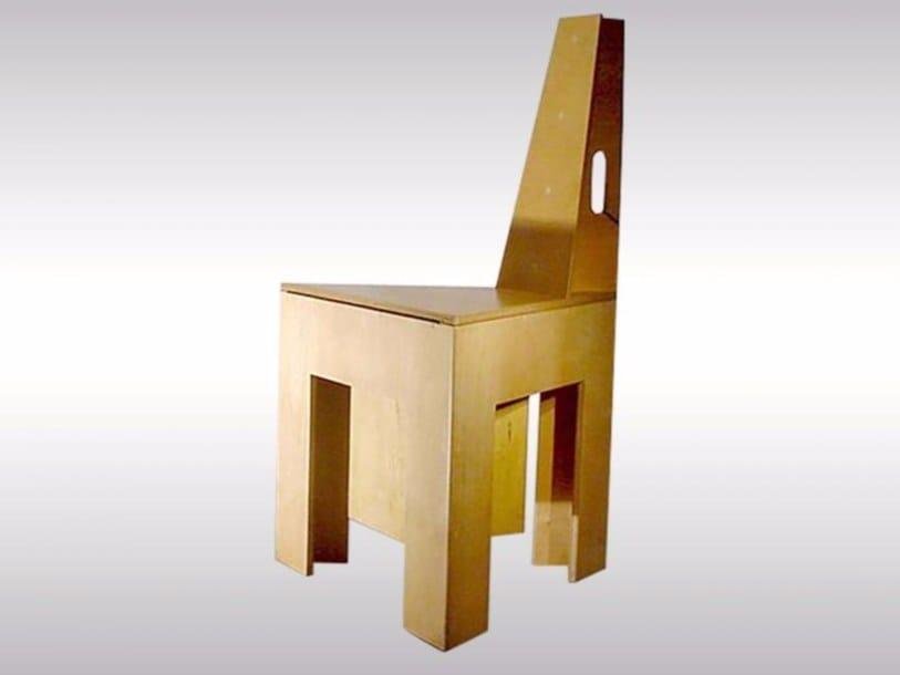 Beech chair SHOESHINE-CHAIR - Woka Lamps Vienna
