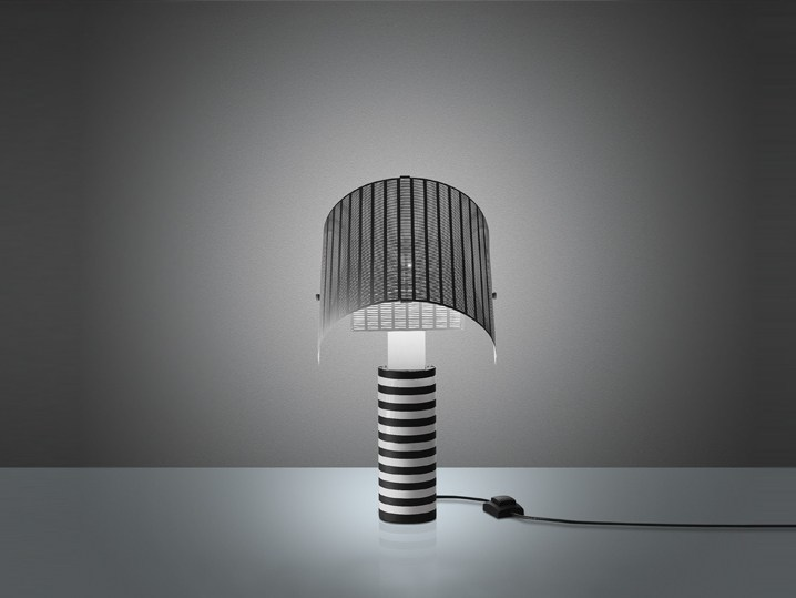 lampe de table halog ne shogun by artemide italia design mario botta. Black Bedroom Furniture Sets. Home Design Ideas