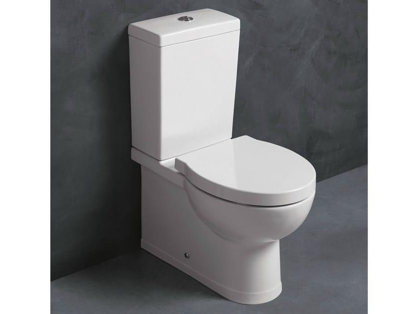 Close coupled ceramic toilet SHORT | Close coupled toilet - Alice Ceramica