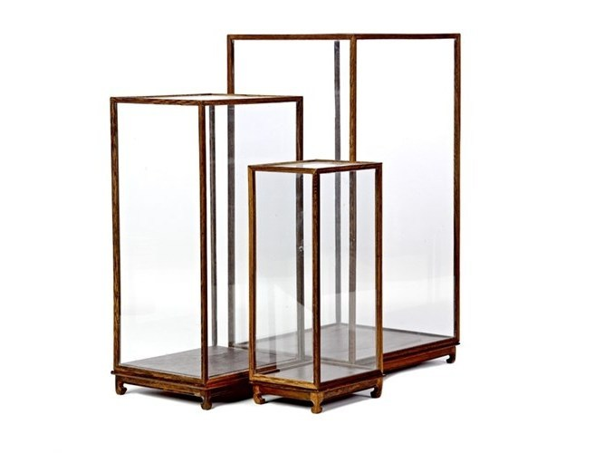 Wood and glass display cabinet SHOW CASE - Pols Potten