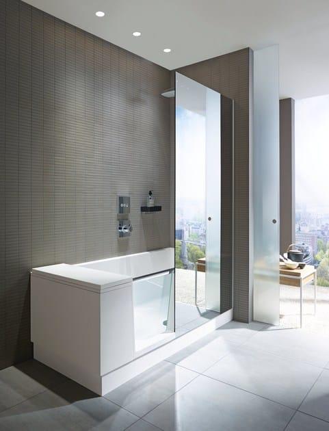 badewanne mit dusche shower bath by duravit design eoos