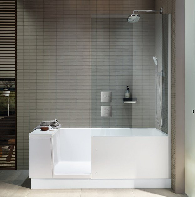 Bathtub With Shower Shower Bath By Duravit Design Eoos