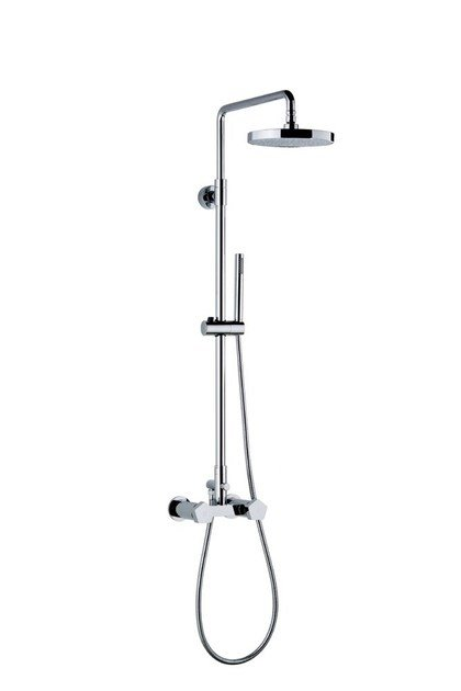 Shower panel with diverter with hand shower SHOWER COLUMNS | Shower panel with hand shower by NEWFORM