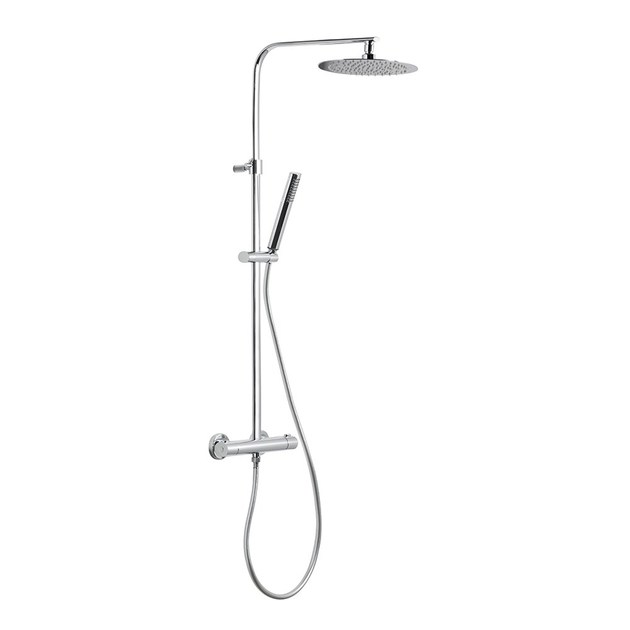 Thermostatic shower panel with hand shower with overhead shower SHOWER COLUMNS | Thermostatic shower panel by NEWFORM