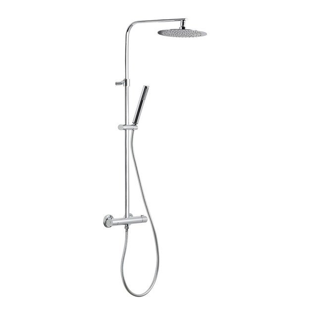 Thermostatic shower panel with hand shower with overhead shower SHOWER COLUMNS | Thermostatic shower panel - NEWFORM