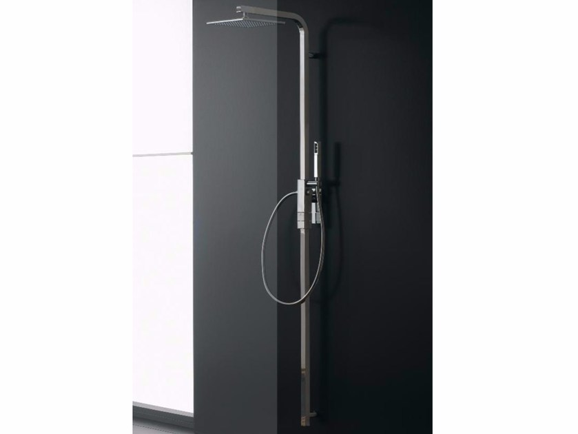 Wall-mounted thermostatic shower panel with overhead shower SHOWER | Wall-mounted shower panel - ZAZZERI