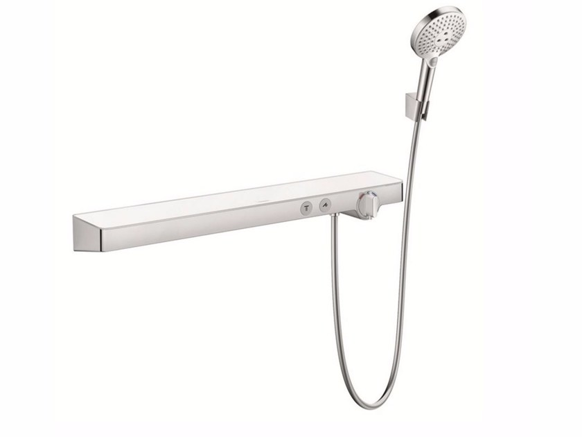 Bathroom wall shelf / shower tap SHOWERTABLET SELECT 700 | Thermostatic shower mixer with hand shower - HANSGROHE