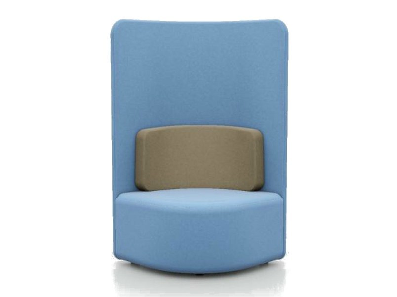 Upholstered guest chair high-back SHUFFLE | Easy chair high-back - Boss Design