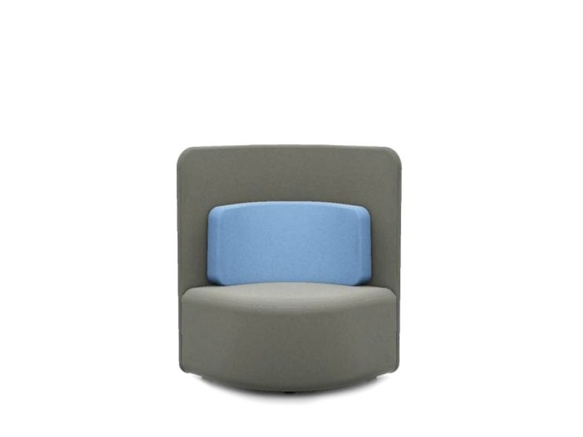 Upholstered guest chair SHUFFLE | Upholstered easy chair - Boss Design