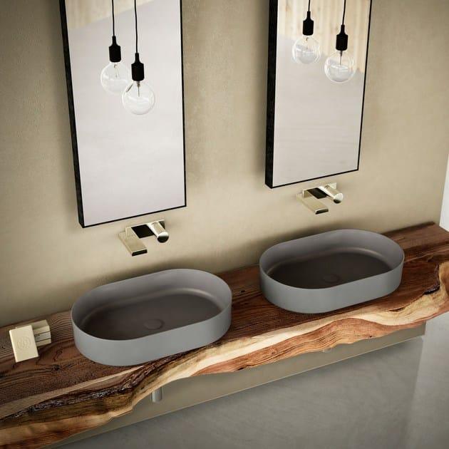 Countertop oval washbasin SHUI COMFORT | Oval washbasin - Ceramica Cielo