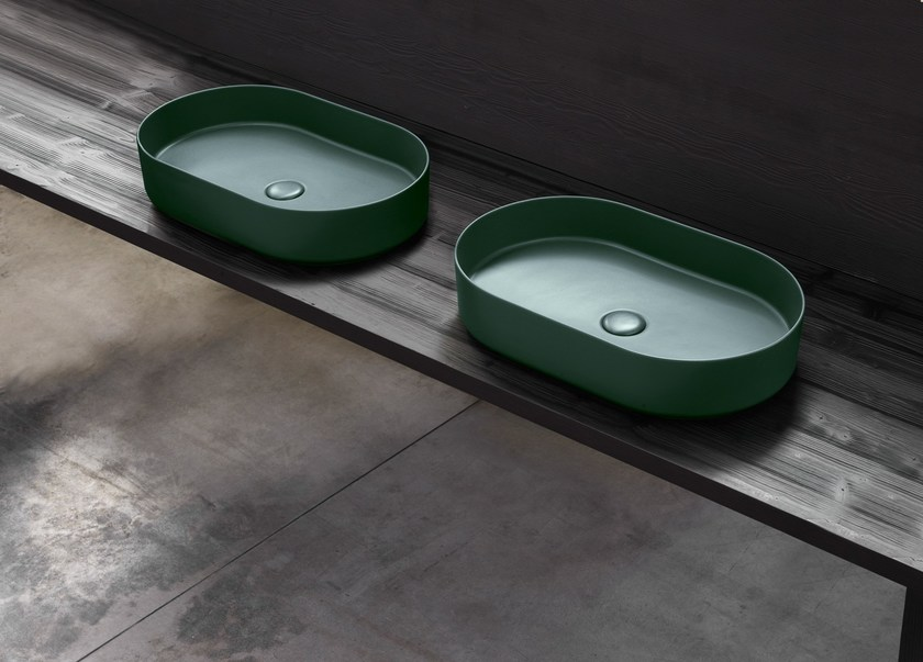 Countertop oval washbasin SHUI COMFORT | Oval washbasin by Ceramica Cielo