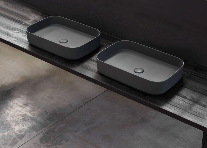 Countertop rectangular ceramic washbasin SHUI COMFORT | Rectangular washbasin by Ceramica Cielo