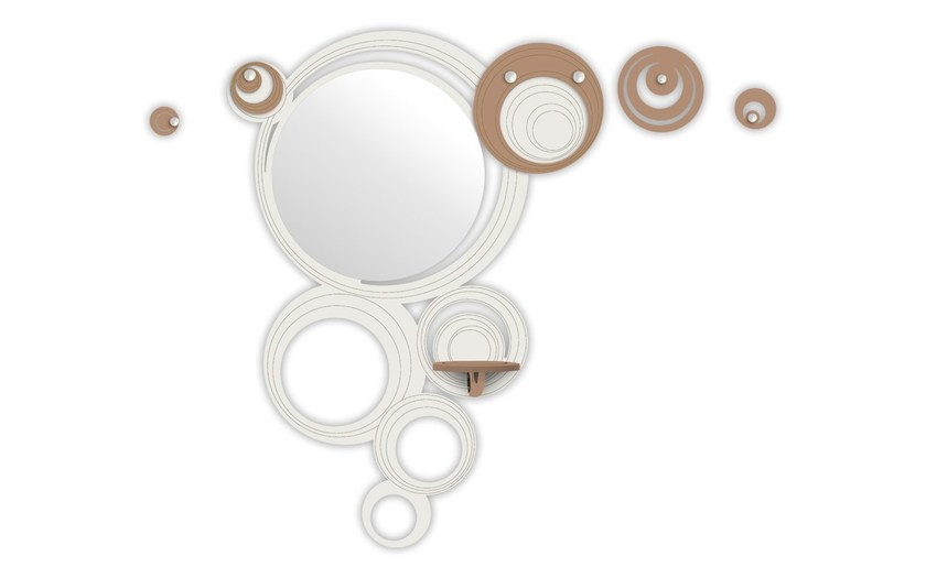 Wall-mounted hall mirror SI-281 | Hall mirror by LAS