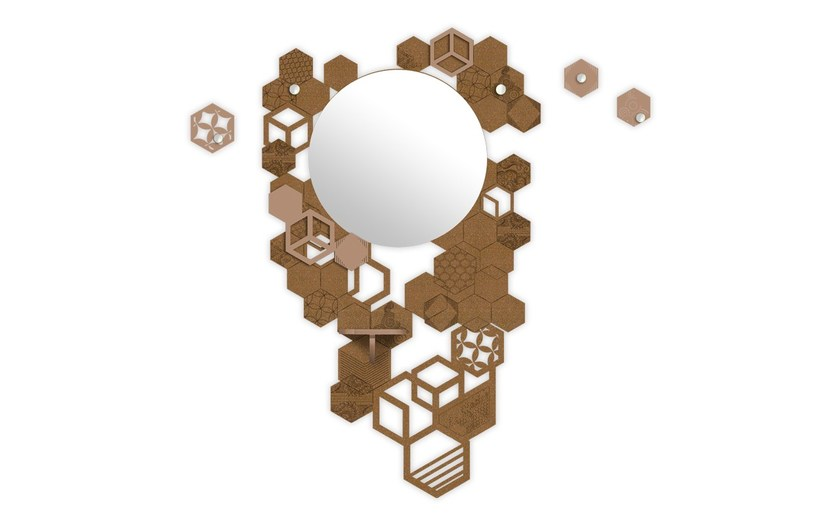 Wall-mounted hall mirror SI-315 | Hall mirror by LAS