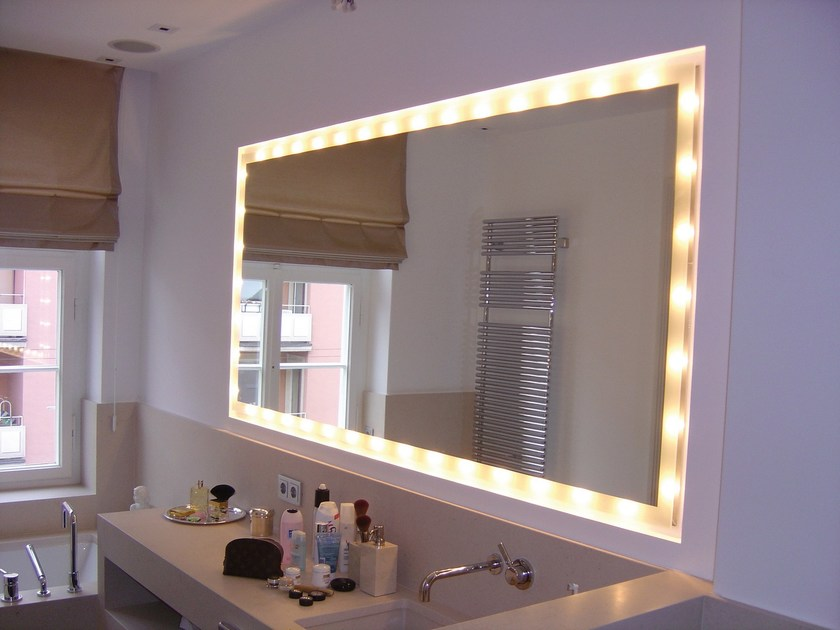 Specchio con illuminazione integrata SIDELIGHT - Top Light