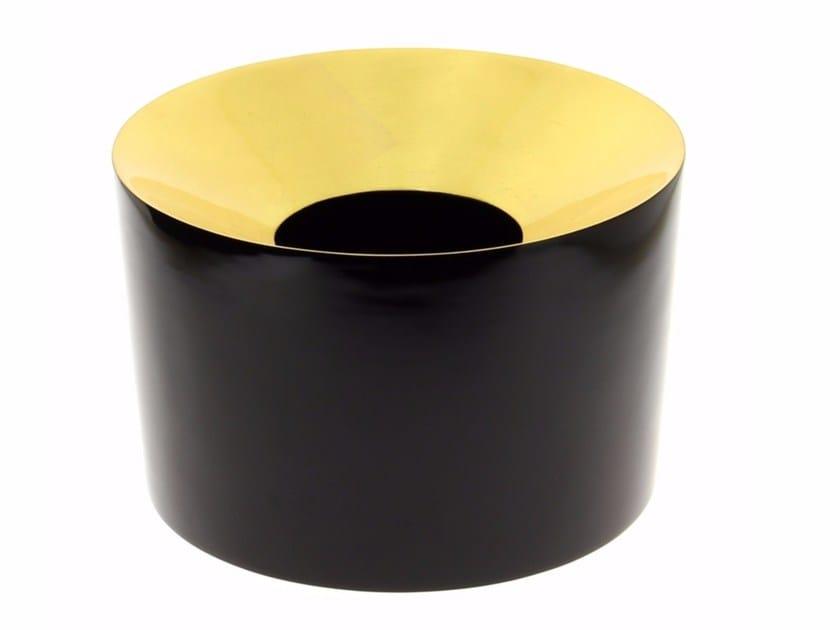 Wooden vase VASE BAS FEUILLE D'OR - Compagnie Française de l'Orient et de la Chine