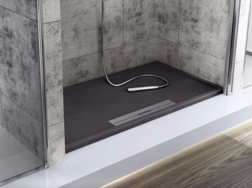 Anti-slip custom Silexpol® shower tray SILEX AVANT - Fiora
