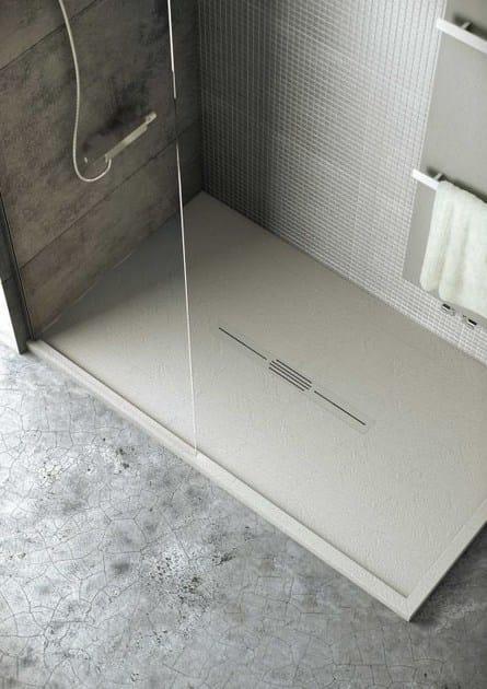 Piatto doccia antiscivolo in silexpol silex privilege fiora - Piatto doccia mosaico ...