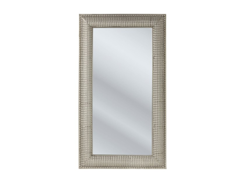 Rectangular wall-mounted framed mirror SILVER PEARLS 160 x 90 - KARE-DESIGN