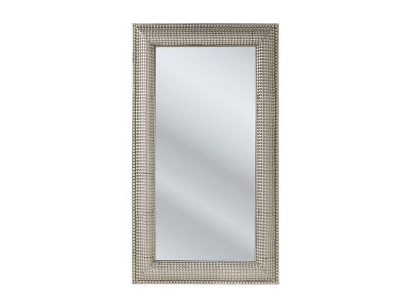 Specchio rettangolare a parete con cornice SILVER PEARLS 160 x 90 - KARE-DESIGN