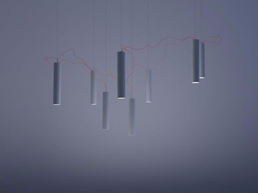 LED metal pendant lamp SIMBIOSI - DAVIDE GROPPI