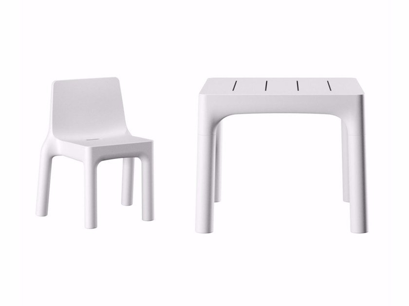 Stackable polyethylene garden chair SIMPLE CHAIR - PLUST Collection by euro3plast