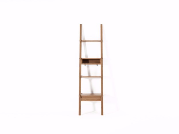 Open teak shelving unit with drawers SIMPLICITY SC02-T - KARPENTER