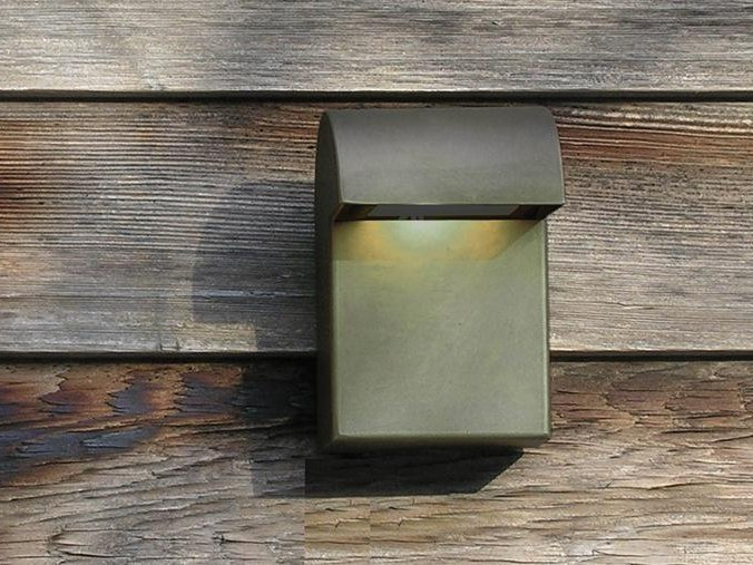 LED Anodized aluminium Wall Lamp SIMPLY WALL GRAUBRAUN by PVD Concept