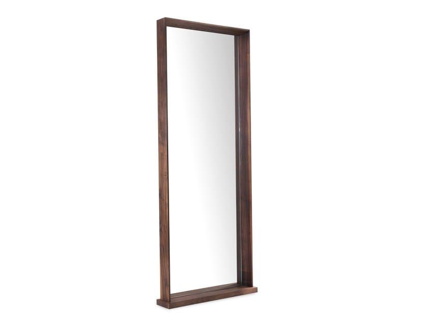 Specchio da terra rettangolare con cornice sincera riva 1920 for Specchio girevole da terra