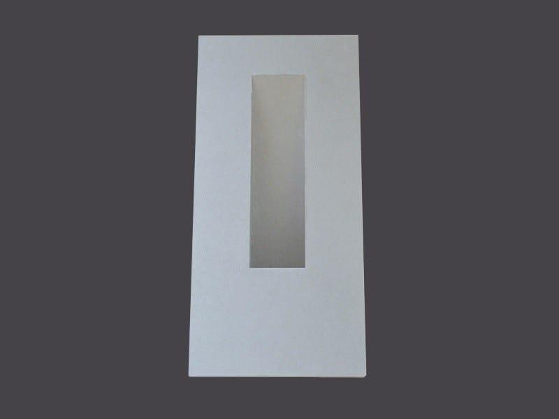 Wall light fixtures in Plasterboard SINGLE RECESSED WALL LIGHT FIXTURES U75 - Gyps