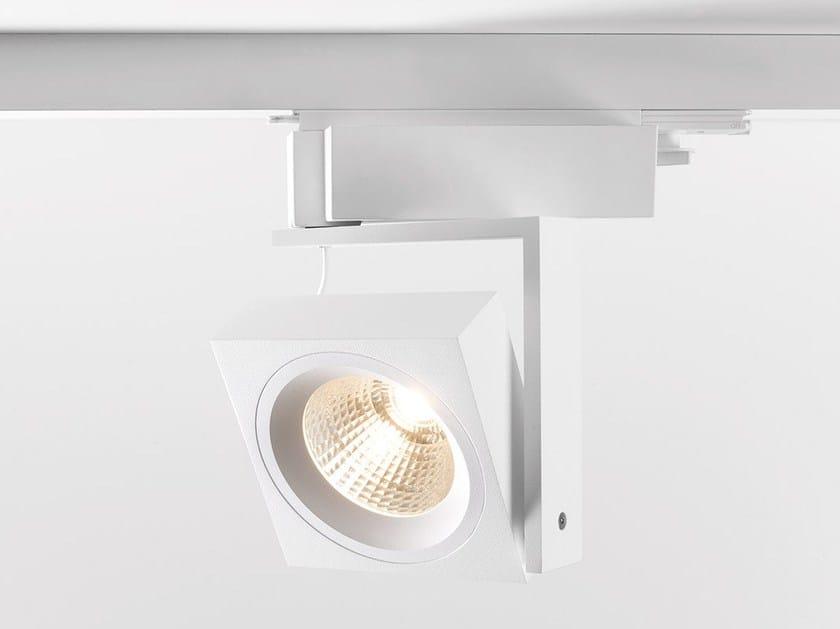 LED adjustable track-light SINGLE SQUARE - Modular Lighting Instruments